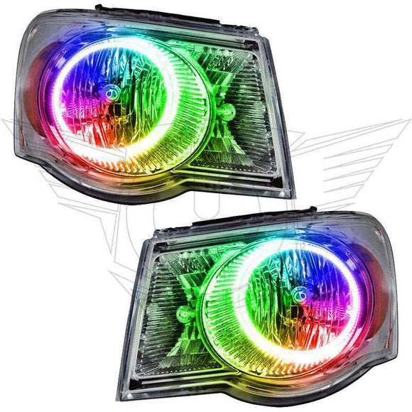 2007-2009 Chrysler Aspen ColorSHIFT LED Pre-Assembled Oracle™ Halo Headlights
