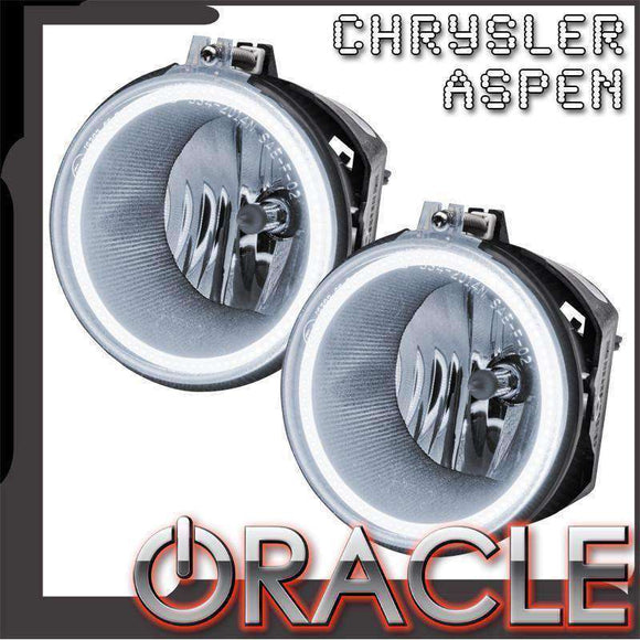 2007-2009 Chrysler Aspen Plasma Pre-Assembled Halo Fog Lights by Oracle™
