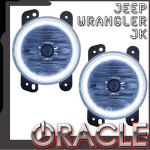 2007-2009 Jeep Wrangler Plasma Pre-Assembled Halo Fog Lights by Oracle™
