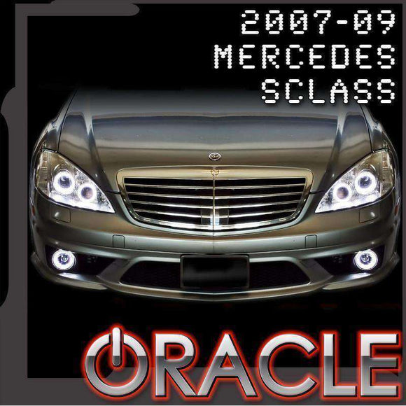 2007-2009 Mercedes-Benz S-Class ColorSHIFT LED Headlight Halo Kit by Oracle™