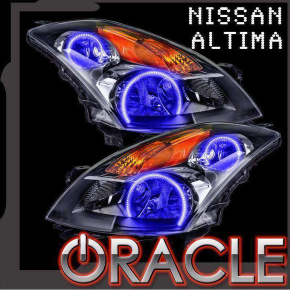 2007-2009 Nissan Altima Sedan LED Pre-Assembled Halo Headlights (Black) by Oracle™
