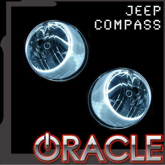 2007-2010 Jeep Compass LED Headlight Halo Kit by Oracle™