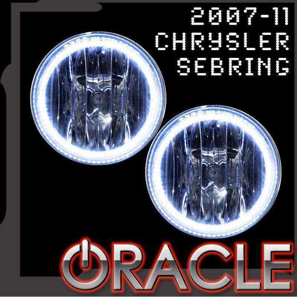 2007-2011 Chrysler Sebring Plasma Fog Light Halo Kit by Oracle™