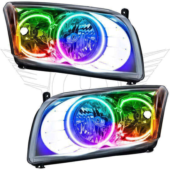 2007-2012 Dodge Caliber ColorSHIFT LED Pre-Assembled Oracle™ Halo Headlights - Chrome