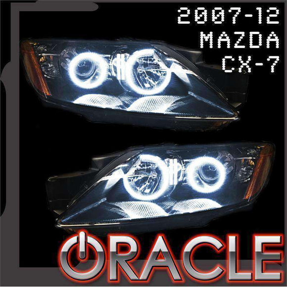 2007-2012 Mazda CX7 ColorSHIFT LED Headlight Halo Kit by Oracle™