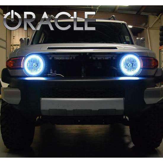 2007-2014 Toyota FJ Cruiser Surface Mount ColorSHIFT LED Headlight Halo Kit by Oracle™
