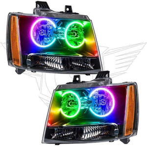 2007-2013 Chevrolet Avalanche ColorSHIFT LED Pre-Assembled Oracle™ Halo Headlights
