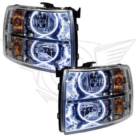 2007-2013 Chevrolet Silverado LED Pre-Assembled Oracle™ Halo Headlights - Chrome