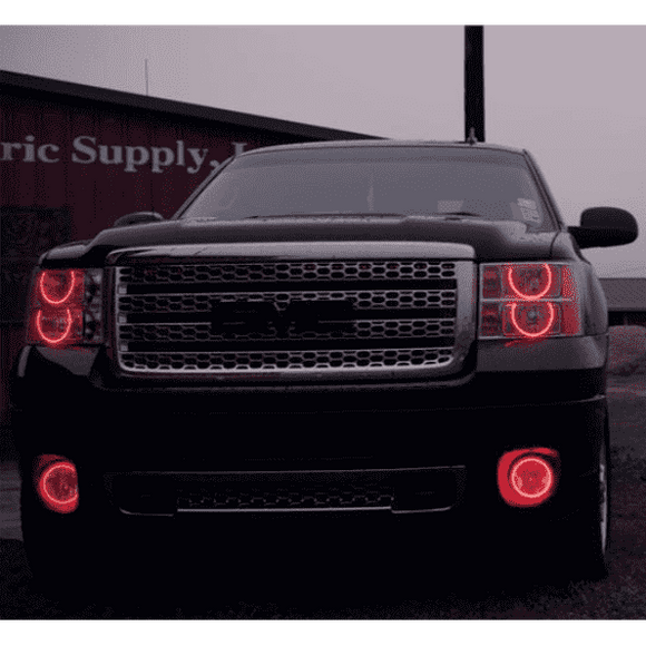 2007-2013 GMC Sierra LED Headlight Round Halo Kit by Oracle™
