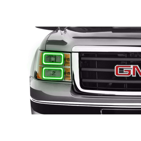 2007-2013 GMC Sierra Profile Prism (formerly ColorMorph) Halo Headlight Kits by LED Concepts™