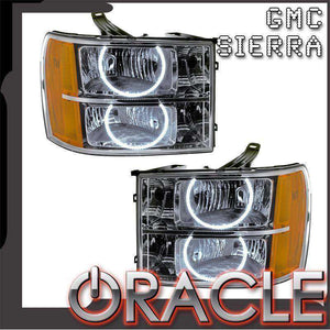 2007-2013 GMC Sierra Round Style LED Pre-Assembled Oracle™ Halo Headlights