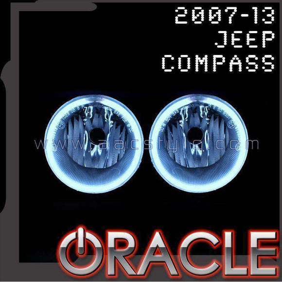 2007-2013 Jeep Compass LED Fog Light Halo Kit by Oracle™