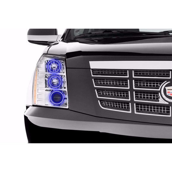 2007-2014 Cadillac Escalade Profile Prism (formerly ColorMorph) Halo Headlight Kits by LED Concepts™