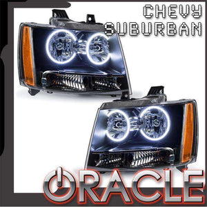 2007-2014 Chevrolet Suburban LED Pre-Assembled Oracle™ Halo Headlights