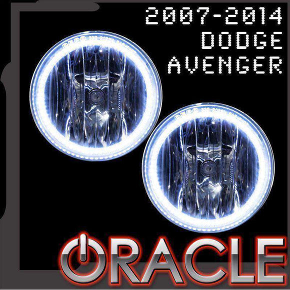 2007-2014 Dodge Avenger Plasma Fog Light Halo Kit by Oracle™