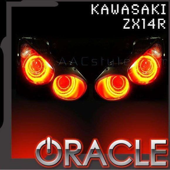 2007-2015 Kawasaki ZX-14R ColorSHIFT LED Headlight Halo Kit by Oracle™