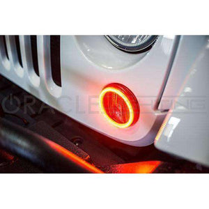 2007-2017 Jeep Wrangler JK Surface Mount LED Turn Signal Halo Kit by Oracle™