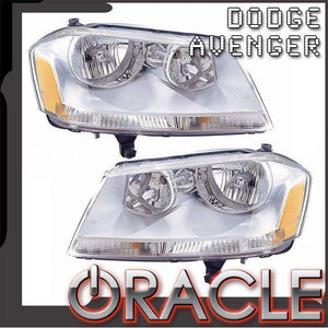 2008-2014 Dodge Avenger SE/SXT ColorSHIFT LED Pre-Assembled Oracle™ Halo Headlights