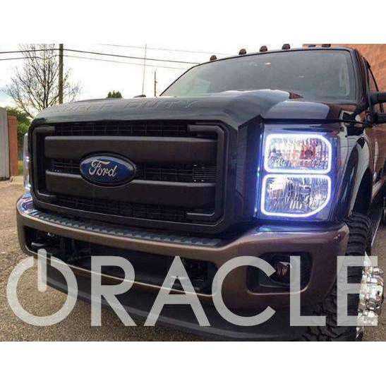 2008-2010 Ford F-250/350 ColorSHIFT LED Pre-Assembled Oracle™ Halo Headlights - Chrome