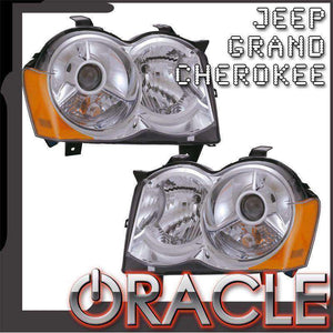 2008-2010 Jeep Grand Cherokee HID ColorSHIFT LED Pre-Assembled Oracle™ Halo Headlights