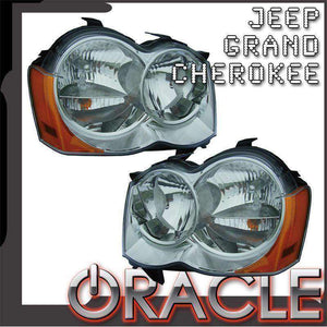 2008-2010 Jeep Grand Cherokee Non-HID LED Pre-Assembled Oracle™ Halo Headlights