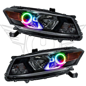 2008-2012 Honda Accord Coupe ColorSHIFT LED Pre-Assembled Oracle™ Halo Headlights