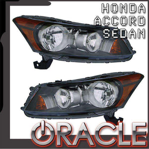 2008-2012 Honda Accord Sedan LED Pre-Assembled Oracle™ Halo Headlights