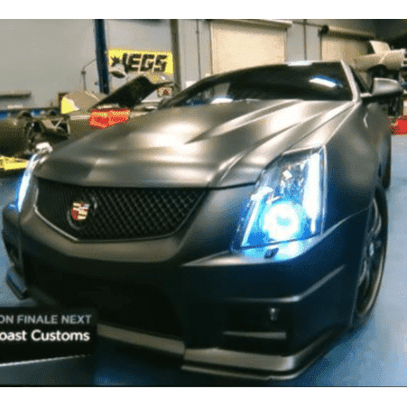 2008-2013 Cadillac CTS-V Sedan ColorSHIFT LED Headlight Halo Kit by Oracle™