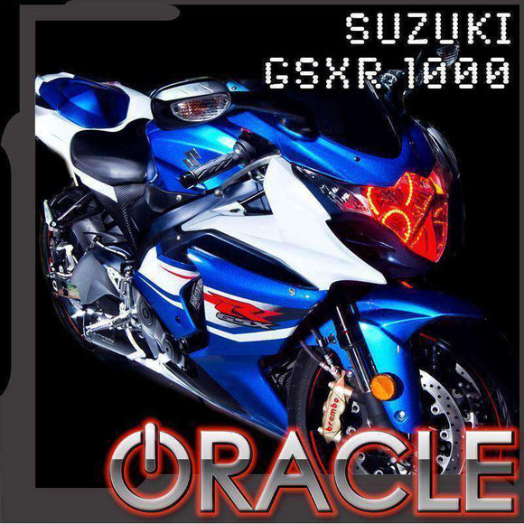 2008-2013 Suzuki GSX-R 1000 ColorSHIFT LED Headlight Halo Kit by Oracle™