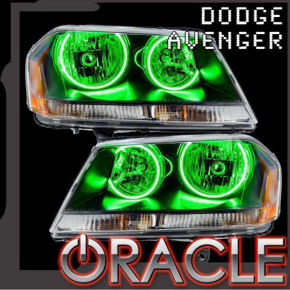 2008-2014 Dodge Avenger ColorSHIFT LED Headlight Halo Kit by Oracle™