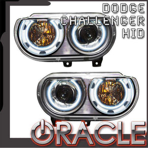 2008-2014 Dodge Challenger HID LED Pre-Assembled Oracle™ Halo Headlights