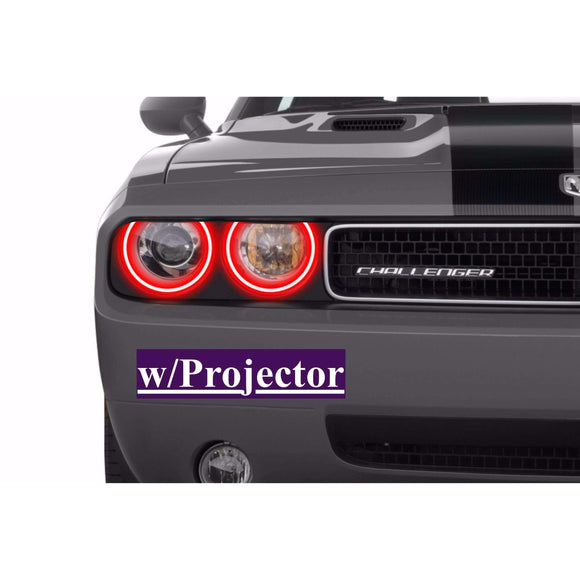 2008-2014 Dodge Challenger Profile Prism (formerly ColorMorph) Halo Headlight Kits by LED Concepts™