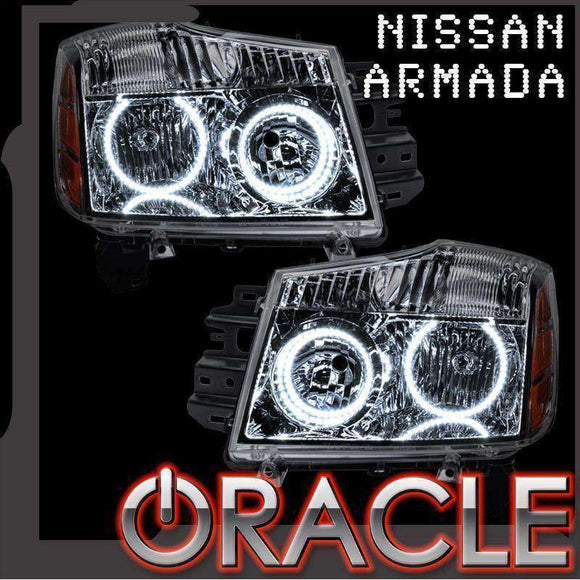 2008-2014 Nissan Armada ColorSHIFT LED Headlight Halo Kit by Oracle™