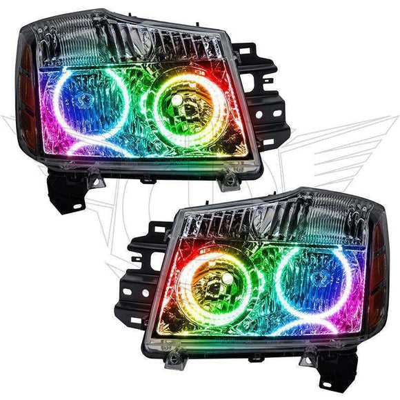 2008-2015 Nissan Armada ColorSHIFT LED Pre-Assembled Oracle™ Halo Headlights