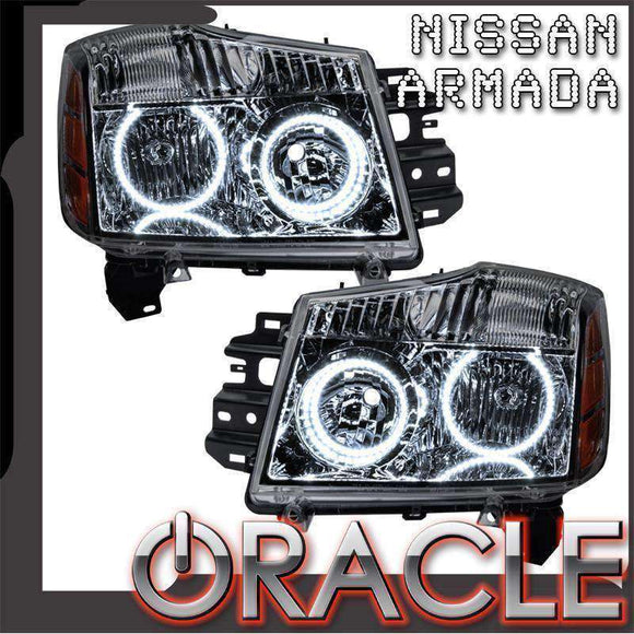 2008-2015 Nissan Armada LED Pre-Assembled Oracle™ Halo Headlights