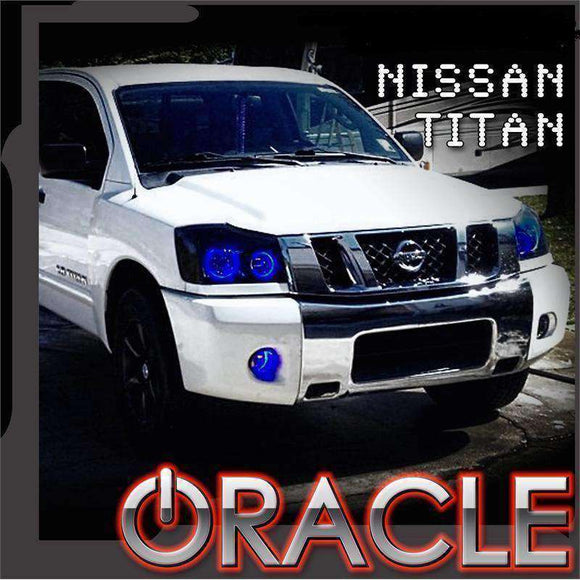 2008-2015 Nissan Titan ColorSHIFT LED Pre-Assembled Oracle™ Halo Headlights