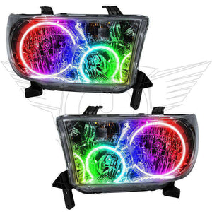 2008-2016 Toyota Sequoia ColorSHIFT LED Pre-Assembled Oracle™ Halo Headlights