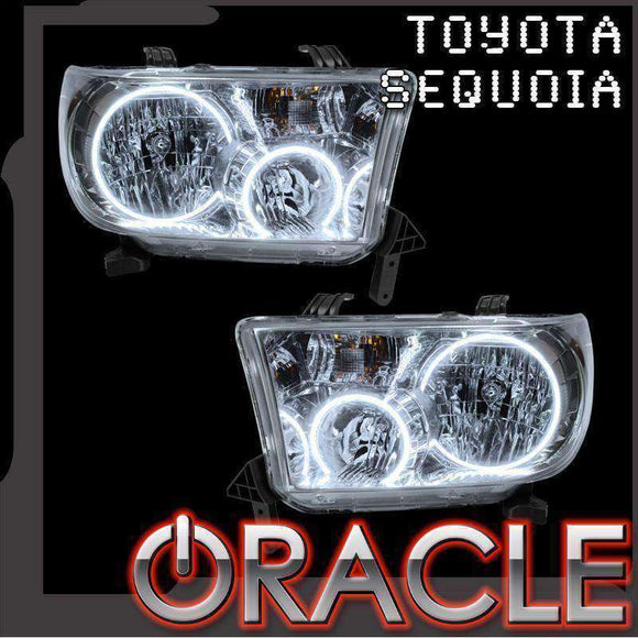 2008-2016 Toyota Sequoia LED Headlight Halo Kit by Oracle™