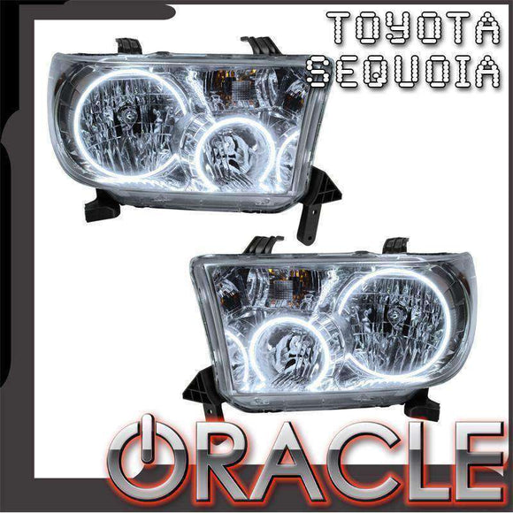 2008-2016 Toyota Sequoia LED Pre-Assembled Oracle™ Halo Headlights