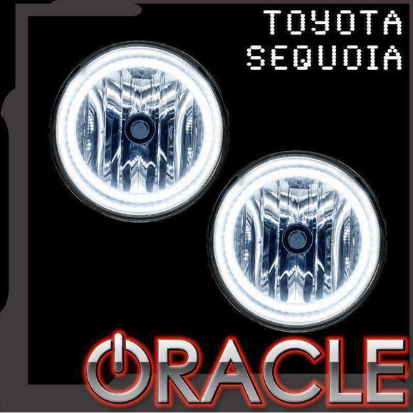 2008-2016 Toyota Sequoia Plasma Fog Light Halo Kit by Oracle™