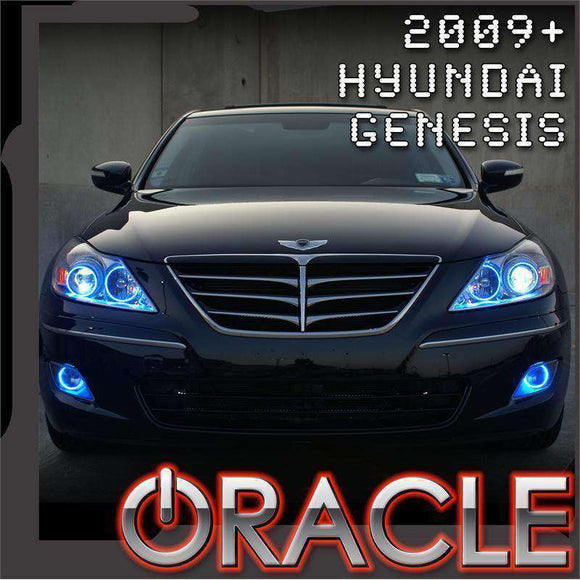 2009-2010 Hyundai Genesis ColorSHIFT LED Headlight Halo Kit by Oracle™