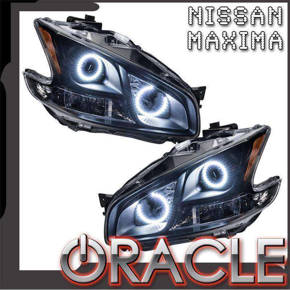 2009-2010 Nissan Maxima Non-HID ColorSHIFT LED Pre-Assembled Oracle™ Halo Headlights