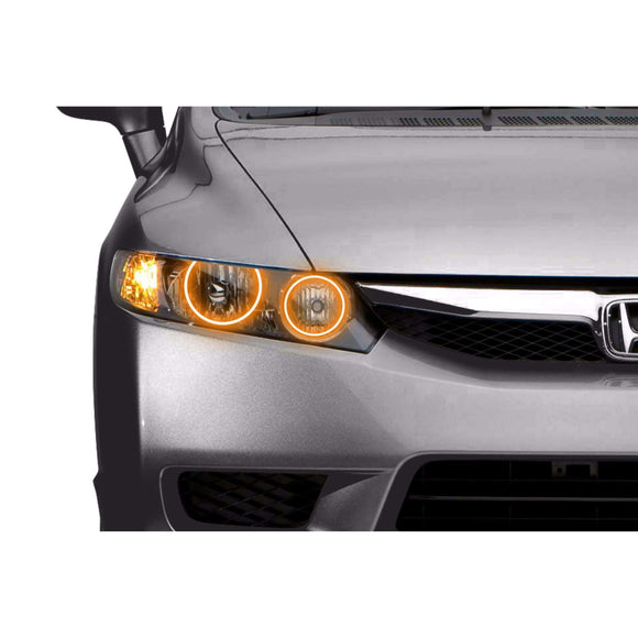 2009-2011 Honda Civic Sedan Profile Prism (formerly ColorMorph) Halo Headlight Kits by LED Concepts™