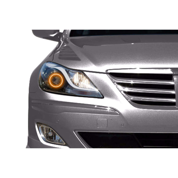 2009-2011 Hyundai Genesis Sedan Profile Prism (formerly ColorMorph) Halo Headlight Kits by LED Concepts™