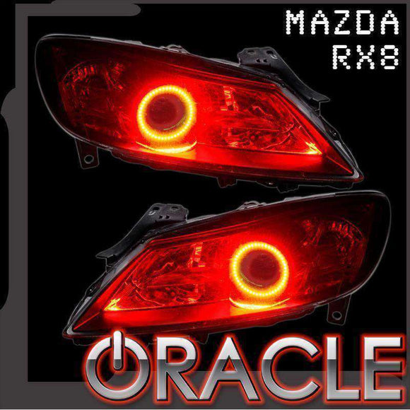 2009-2011 Mazda RX-8 ColorSHIFT LED Headlight Halo Kit by Oracle™