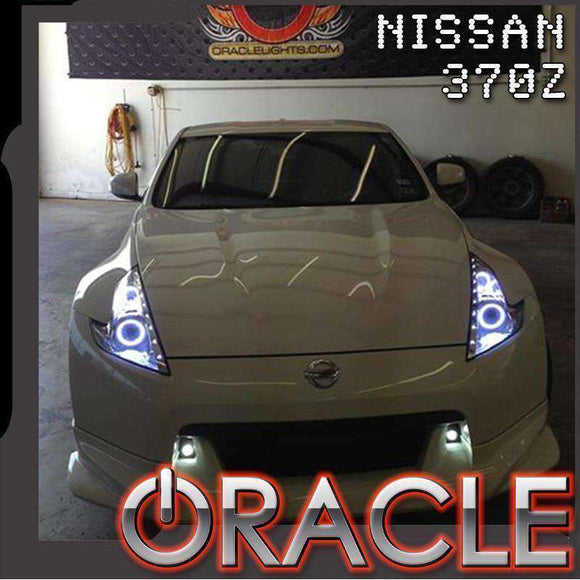 2009-2014 Nissan 370Z LED Dual Ring Headlight Halo Kit by Oracle™
