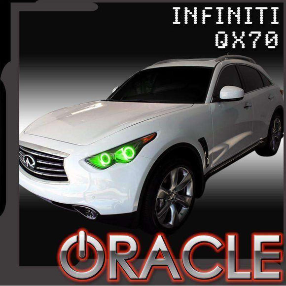 2009-2015 Infiniti QX70 LED Headlight Halo Kit by Oracle™