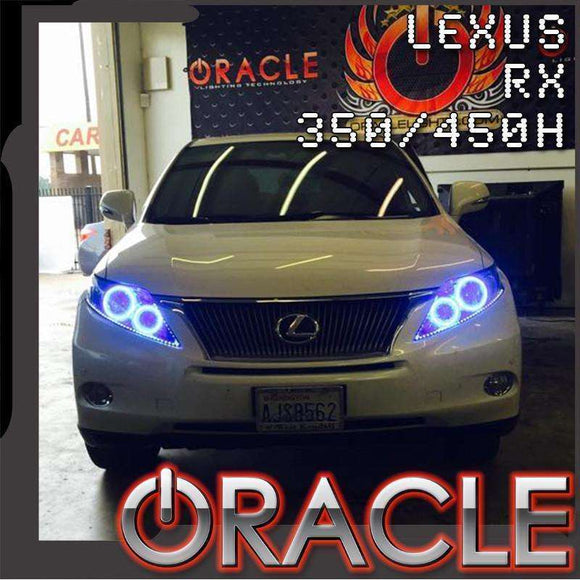 2010-2012 Lexus RX 350/450H ColorSHIFT LED Headlight Halo Kit by Oracle™