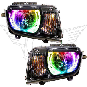 2010-2013 Chevrolet Camaro Non-RS ColorSHIFT LED Pre-Assembled Oracle™ Halo Headlights
