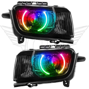 2010-2013 Chevrolet Camaro RS ColorSHIFT LED Pre-Assembled Halo Headlights (Projector/HID) by Oracle™